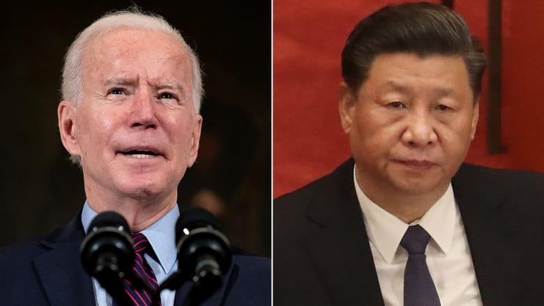"""بايدن وشي يتفقان على عقد اجتماع افتراضي وسط توترات بين بلديهما.. ودعوة أمريكية إلى """"منافسة مسؤولة"""""""