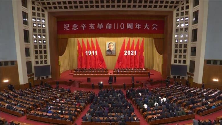"""الرئيس الصيني يتعهد بإعادة توحيد تايوان والصين """"سلميًا"""" في الذكرى 110 للثورة"""