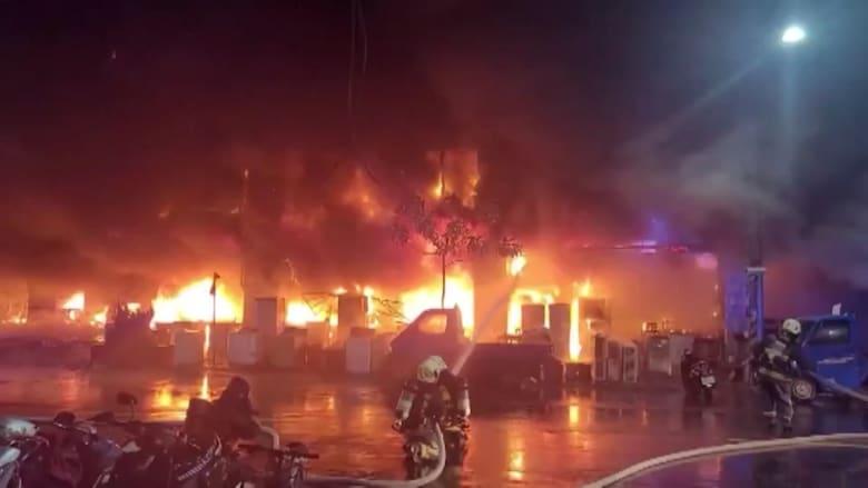 شاهد.. 46 قتيلاً على الأقل في حريق بمبنى جنوب تايوان
