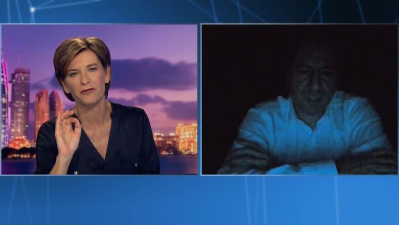 لحظة انقطاع الكهرباء خلال لقاء سامي الجميّل في بث مباشر مع CNN تزامنًا مع سؤاله عن مستقبل لبنان