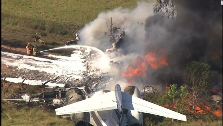 نجاة جميع الركاب بأعجوبة من حادث تحطم طائرة في ولاية تكساس