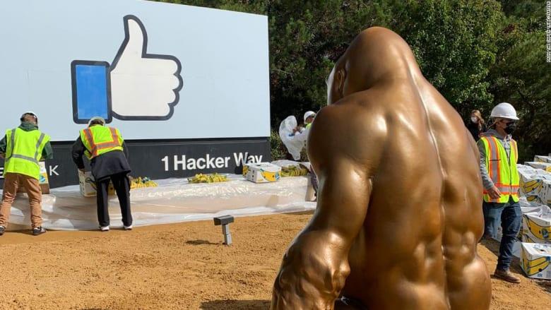 بعد قتلها عام 2016.. ما سر ظهور تمثال غوريلا أمام مقر فيسبوك؟