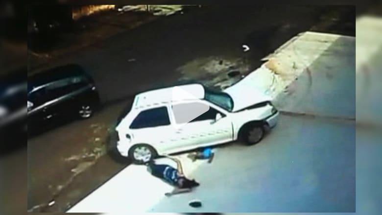 طفل وجدته ينجوان بأعجوبة من حادثة دهس