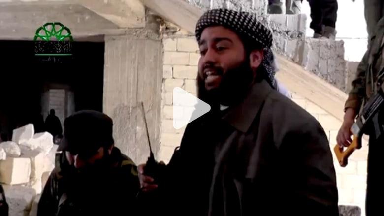 قائد شيشاني يتحدث مع مقاتليه قبل مقتله بساعات