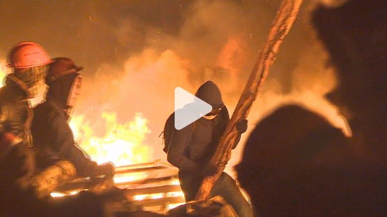 ليلة دامية بكييف وعشرات القتلى
