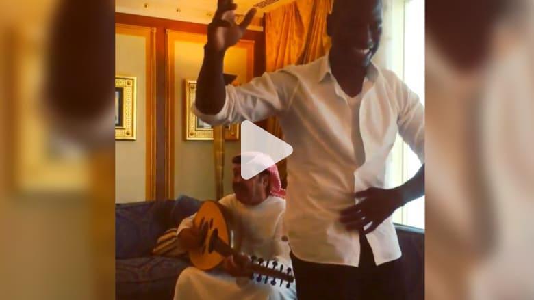 بالفيديو.. النجم الأمريكي تايريس يرقص مع أيقونة الإمارات ميحد حمد