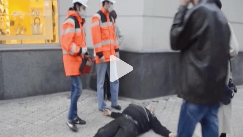 موالون لروسيا يعتدون على متظاهرين أوكرانيين