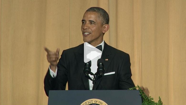 أوباما في العشاء الرئاسي: صعب أن أحصل على تغطية من CNN هذه الأيام
