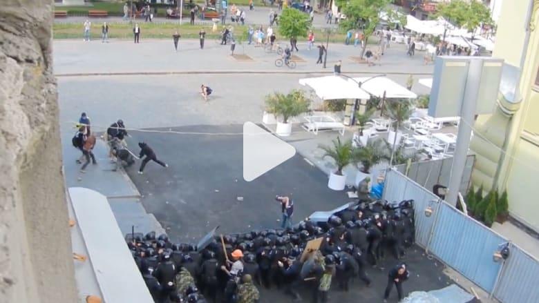 مشاهد من الاشتباكات العنيفة في أوكرانيا