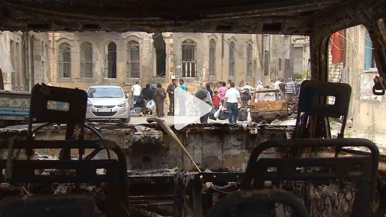 حصريا.. CNN تعود إلى حمص بعد انسحاب المعارضة