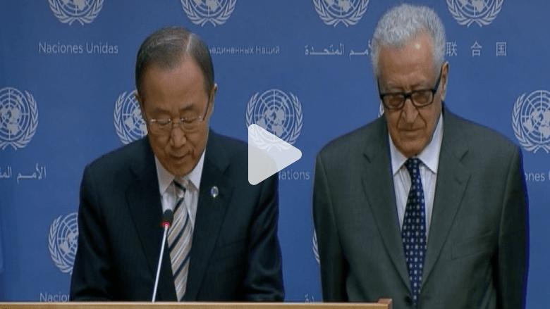 بان كي مون يعلن استقالة الإبراهيمي كمبعوث أممي لسوريا ابتداء من 31 مايو