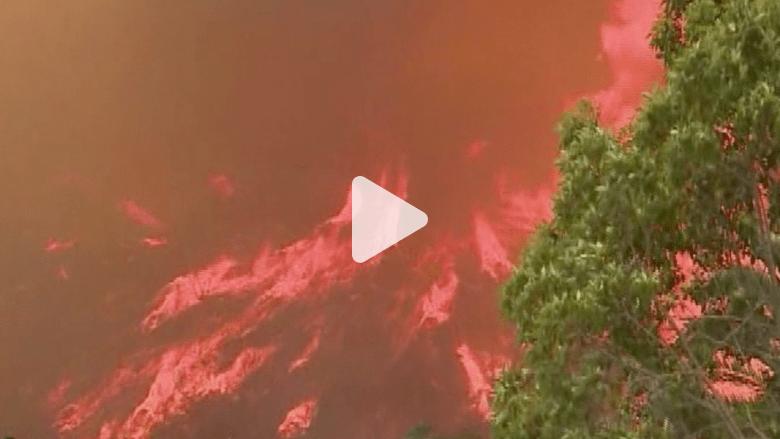 إخلاء محطة نووية و20 ألف شخص بسبب حرائق الغابات بكاليفورنيا