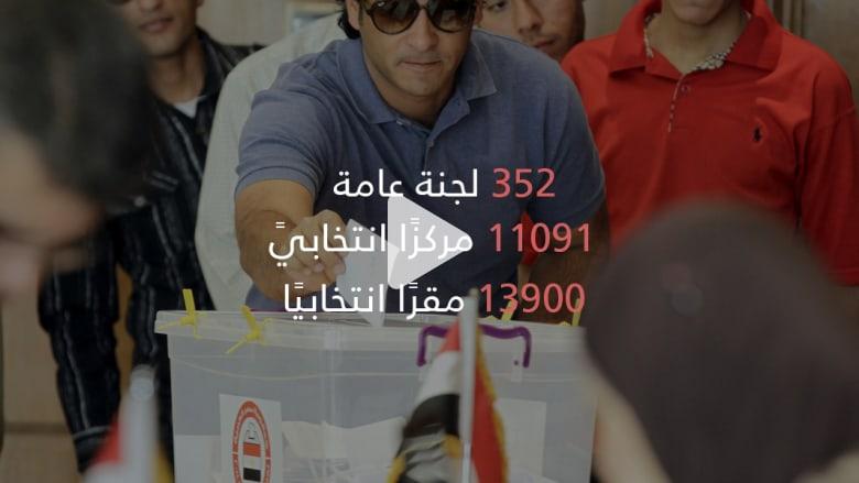 بدء عمليات الاقتراع.. انتخابات مصر بالأرقام