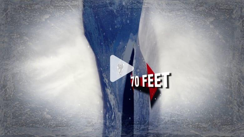 قصة نجاة مذهلة.. رجل ينجو بأعجوبة بعد سقوطه في حفرة جليدية عمقها 21 متراً