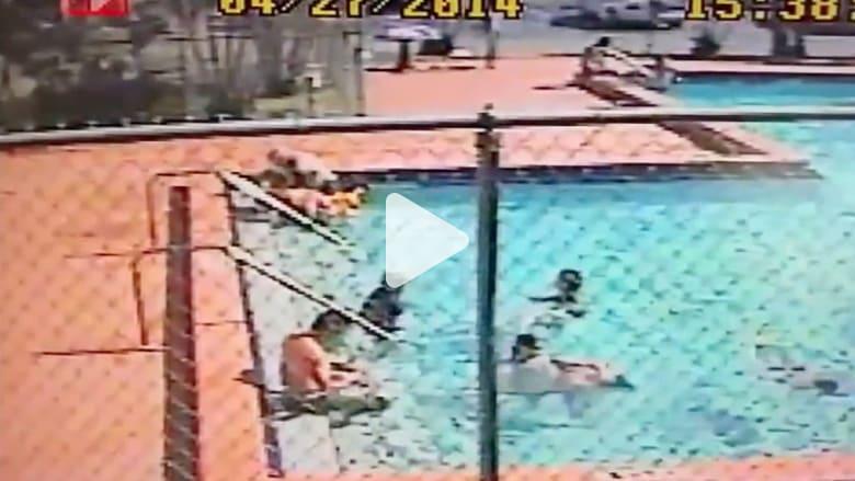فيديو صادم لأطفال في مسبح مكهرب