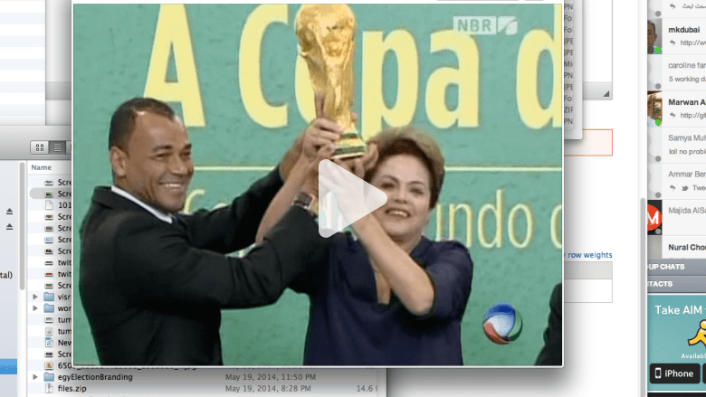 العد التنازلي بدأ وهذا كأس العالم بيد رئيسة البرازيل