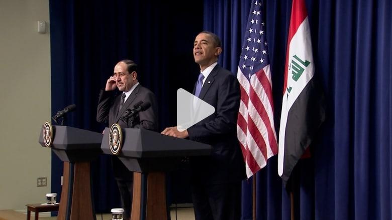 أوباما: الأزمة الطائفية في العراق تهدد الأمن القومي الأمريكي