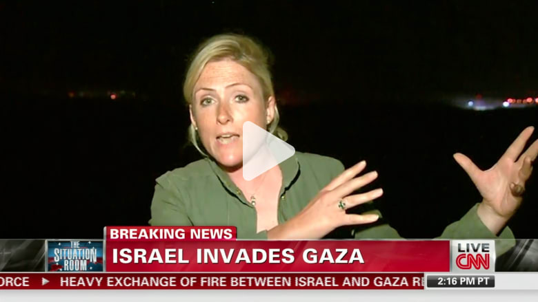 صاروخ يصيب غزة وإسرائيليون يهللون لذلك