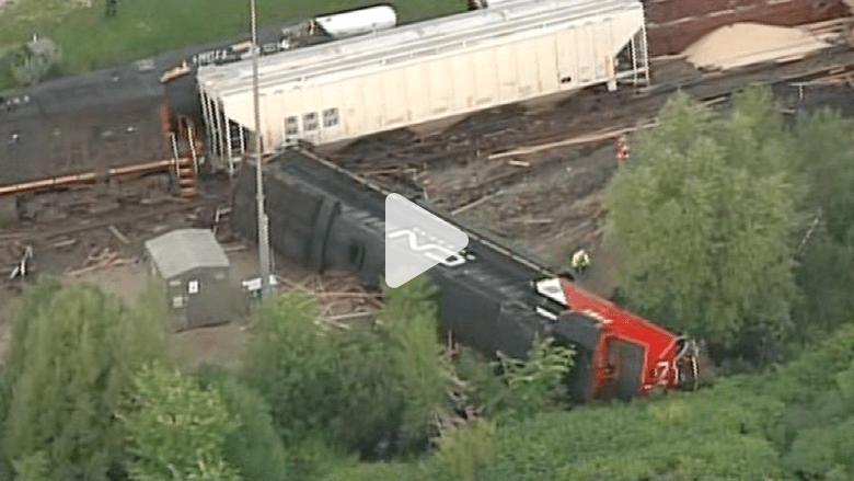 اصطدام قطارين في ولاية ويسكونسن الأمريكية