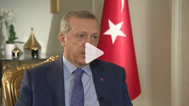 أردوغان لـ CNN: إسرائيل تمارس أفعال هتلر وحكومة الوحدة سبب الهجوم