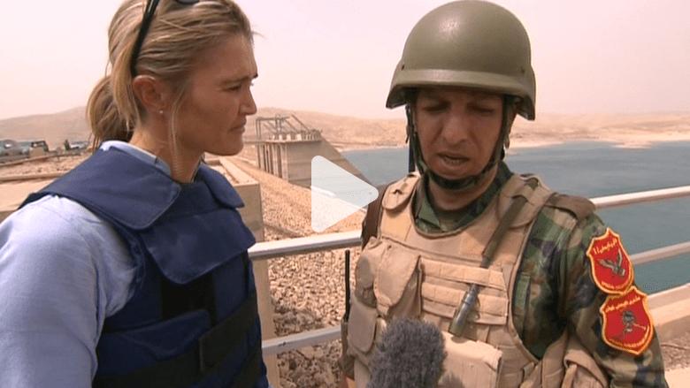 مراسلة CNN في سد الموصل بعد استعادة البيشمرغة السيطرة عليه من داعش