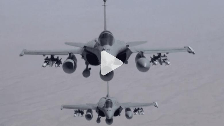 """بالفيديو.. فرنسا تشن أولى غاراتها الجوية ضد """"داعش"""""""