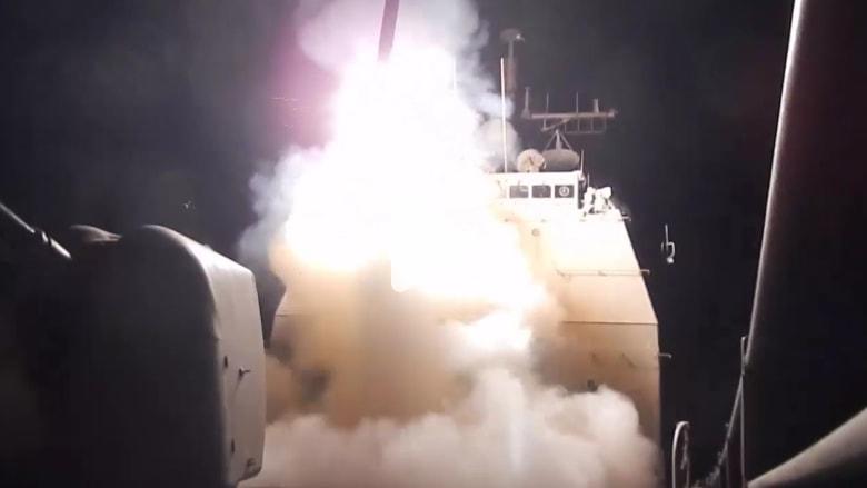 شاهد لحظة إطلاق البحرية الأمريكية صواريخ توماهوك على داعش
