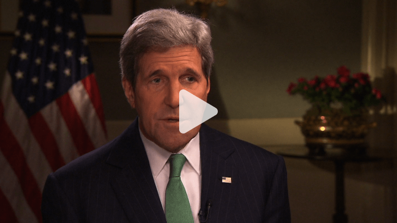 جون كيري لـ CNN : نهاية داعش قريبة ويجب بذل الجهود مع السنّة في العراق