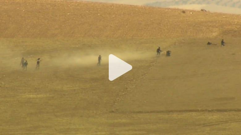 """بالفيديو.. اشتباكات حية بين """"داعش"""" والأكراد في شمال سوريا"""