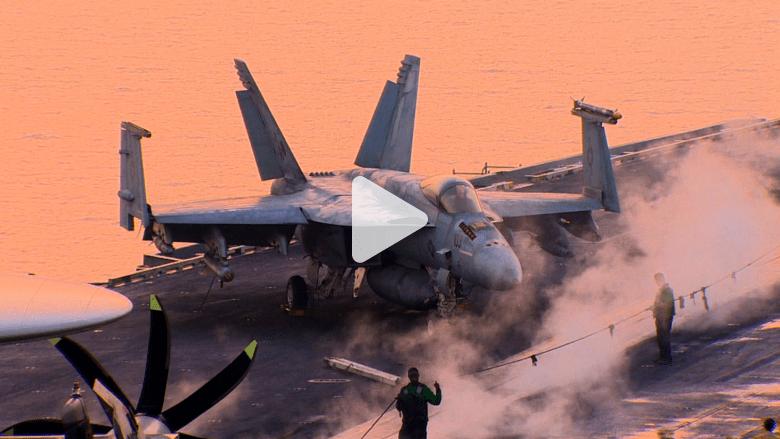 """""""فخر"""" الأسطول السادس.. كيف تعمل حاملة الطائرات التي تنطلق منها عمليات قصف داعش؟"""