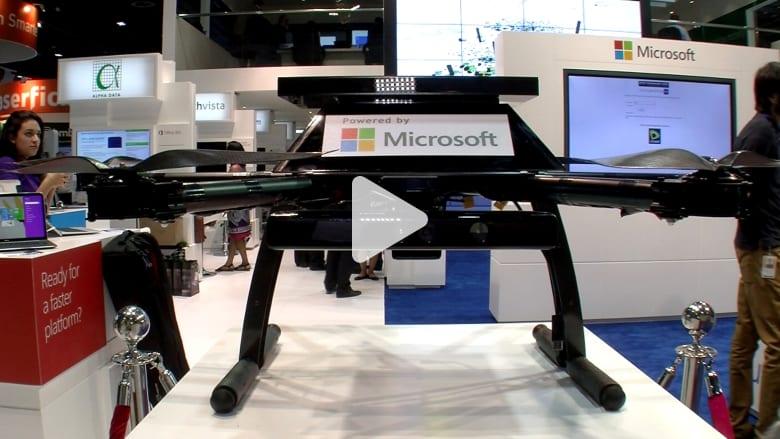 """مايكروسوفت تكشف عن ميزات """"ويندوز 10"""" ومشروع """"سيتي نكست"""" وطائرة بلا طيار"""