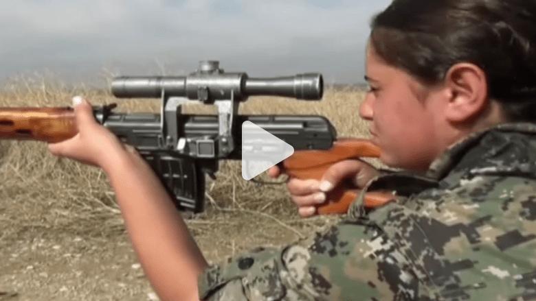 بالفيديو.. مجندات كرديات يتهيأن لقتال داعش