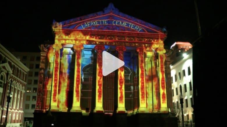 بالفيديو.. عروض ثلاثية الأبعاد مبهرة في نيو أورليانز