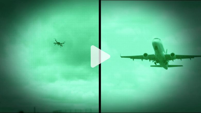 كوارث جوية كادت تتسبب بها طائرات دون طيار