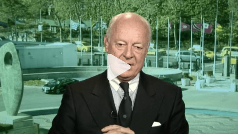 """المبعوث الأممي إلى سوريا: وقف القتال وبدء العملية السياسية يوقف تمدد """"داعش"""""""