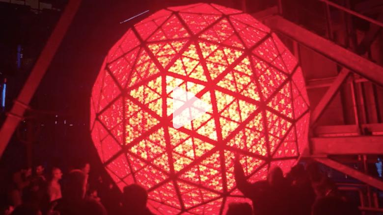 بالفيديو.. تحضير كرة واترفورد البلورية استعدادا للعام الجديد