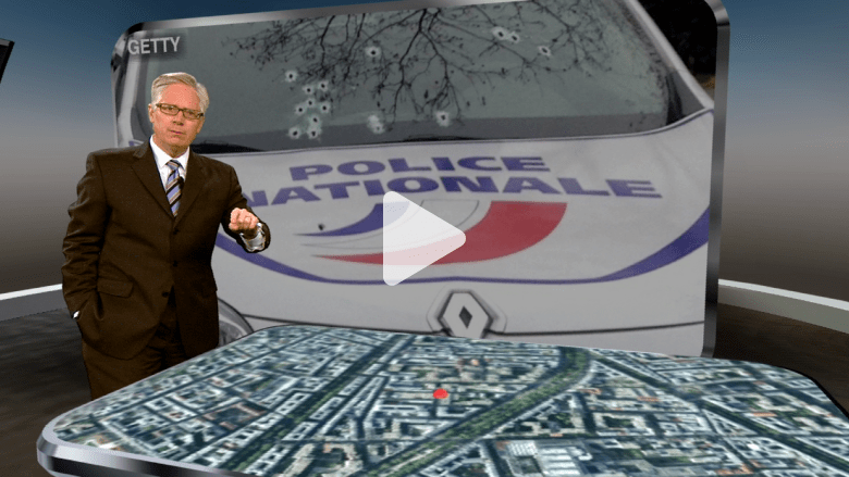 خريطة تشرح هجوم شارلي إيبدو خطوة بخطوة