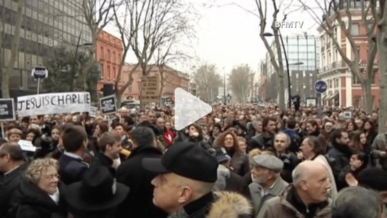 مسيرة صامتة في تولوز تضامنا مع ضحايا باريس