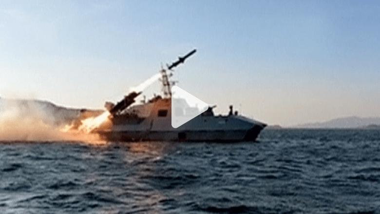 """بالفيديو.. كوريا الشمالية تختبر صاروخاً مضاداً للسفن """"فائق الدقة"""""""