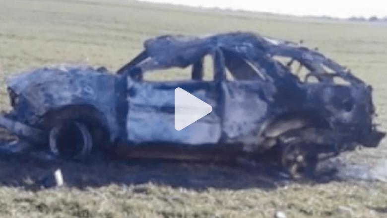 انتظر المساعدة 14 ساعة بعد حادث كسر رقبته وحرق سيارته ويديه