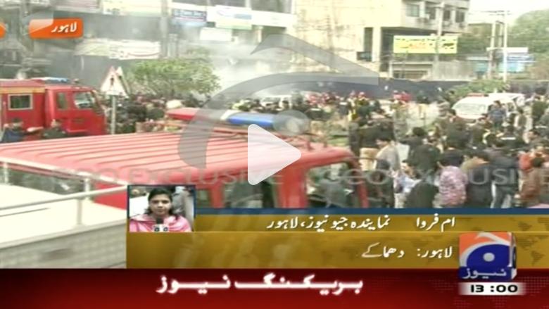 شاهد.. تفجير انتحاري خارج أحد مراكز الشرطة في باكستان