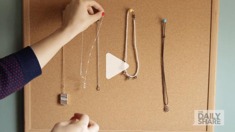 8 طرق سهلة لتنظيم اكسسواراتك باستخدام أدوات منزلية قديمة