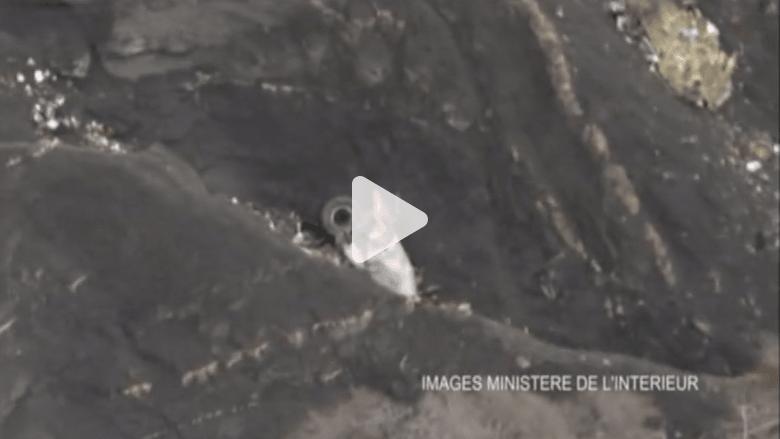 بالفيديو.. وزارة الداخلية الفرنسية تنشر صوراً مروعة لحطام الطائرة الألمانية