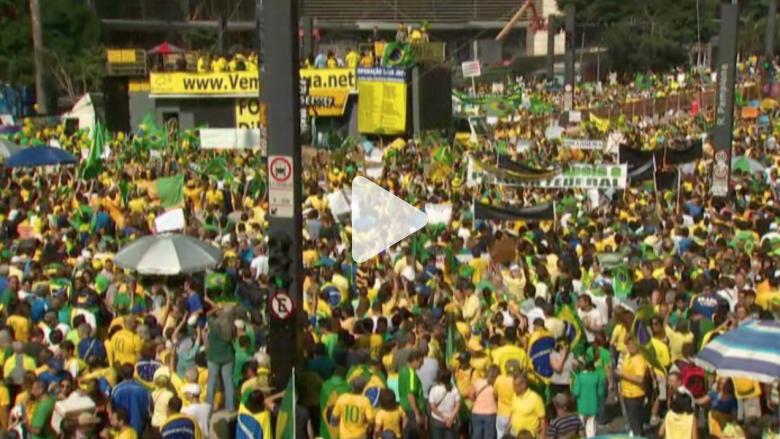 بالفيديو..  مظاهرات ضد الفساد وارتفاع الأسعار في البرازيل