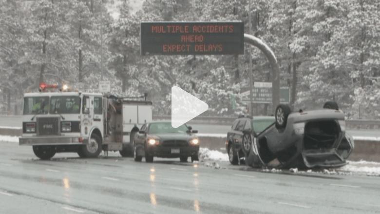 بالفيديو.. حوادث العاصفة الثلجية الربيعية في كولورادو