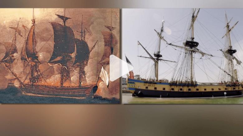إبحار نسخة جديدة من سفينة فرنسية قتالية من القرن الـ 18 ساهمت في استقلال أمريكا