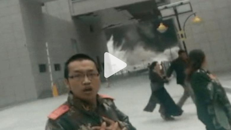 شاهد.. فيديو مرعب صوره أحد الناجين من زلزال التيبت