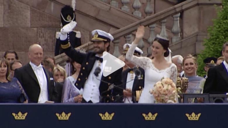 بالفيديو.. مراسم زواج الأمير كارل فيليب من عارضة الأزياء السابقة صوفيا