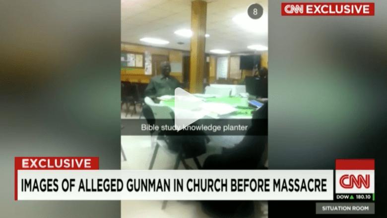 مشاهد حصرية من داخل كنيسة للسود قبيل اطلاق النار بلحظات بتشارلستون