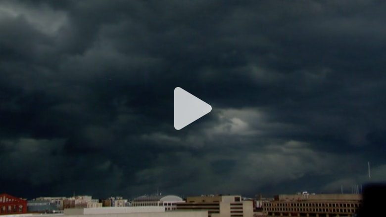 شاهد.. عواصف شديدة تجتاح أمريكا بتقنية الفاصل الزمني